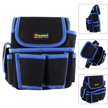 Durable Waterproof Waist Tool Bag with 4 Holes 2 Pocket and Electric Drill Pocket for Home / Industrial Maintenance