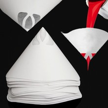 最高価格 50 個紙ペイントストレーナー紙ペイント円錐ストレーナーメッシュフィルターコーンストレーナーペイント漏斗