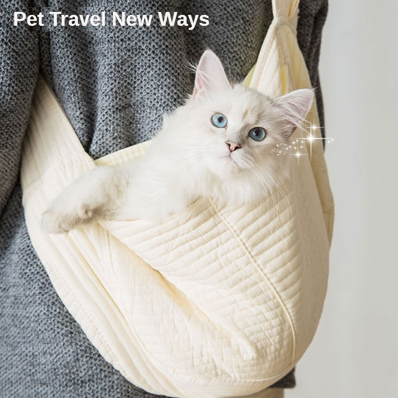 Cats and Dogs Go Out To Carry A Portable Canvas Shoulder Bag Travel Cat Bag Handbag Pet Kitten and Puppy Supplies Cat Carrier