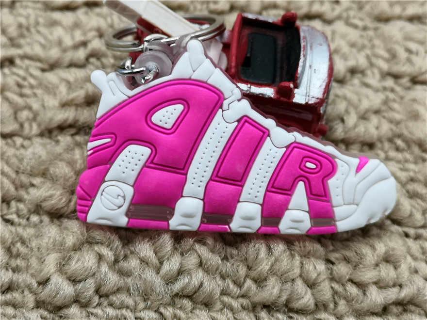 Mini llavero de aire de silicona bolso encanto mujer hombres niños llavero regalos zapatillas llavero accesorios colgantes Jordan zapatos llave cadena