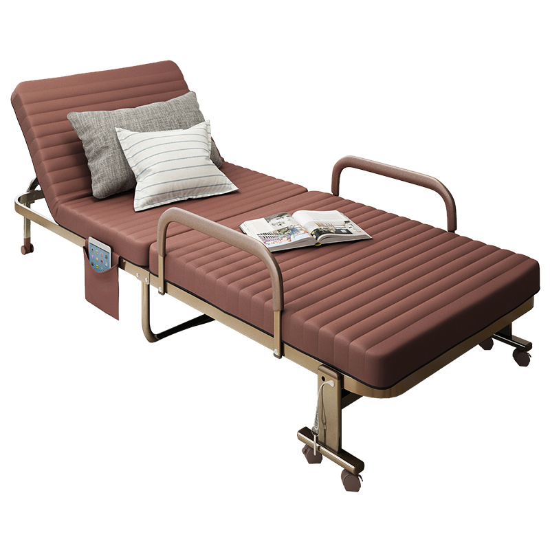 Lunch Break Folding Bed Single Bed Double Office Lunch Break Portable 1.2 M Marching Accompanying Nap Lounge Chair Simple