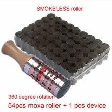 Hot Moxibustion Suit New Type Swiveling Moxa Stick Smokeless Mugwort Roll gift Meridian Chart цена