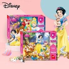 Disney-rompecabezas de 200 piezas de Frozen/Blancanieves para niños, juguetes educativos, rompecabezas de papel 3D para niños y adultos, 200 piezas