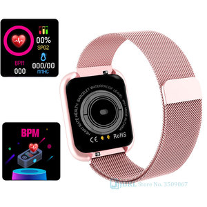 Image 2 - Mode Stahl Smart Uhr Männer Frauen Bluetooth Smartwatch Damen Fitness Armband Herz Rate Android IOS Telefon Herren Smart uhr