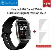 Haylou LS02 angielska wersja inteligentnego zegarka IP68 wodoodporny 12 trybów sportowych przypomnienie o połączeniu inteligentna opaska Bluetooth 5 0 tanie tanio CN (pochodzenie) Brak Na nadgarstku Wszystko kompatybilny 128 MB Passometer Uśpienia tracker Wiadomość przypomnienie