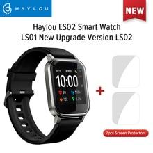 Haylou LS02 İngilizce sürüm akıllı saat, IP68 su geçirmez, 12 spor modları, çağrı hatırlatma, Bluetooth 5.0 akıllı bant
