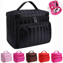 Large Beauty MakeUp Nail Tech Cosmetic Box Jewellery Vanity Storage Bag