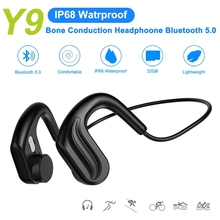 Fashion Wireless Bluetooth 5.0 Bone Conduction Headset HIFI IP68 Waterproof MP3 Sports Running Magnetic Earphones For Swimming