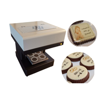 Chocolate Macaroon printer machine 4 cups coffee printer with best after service