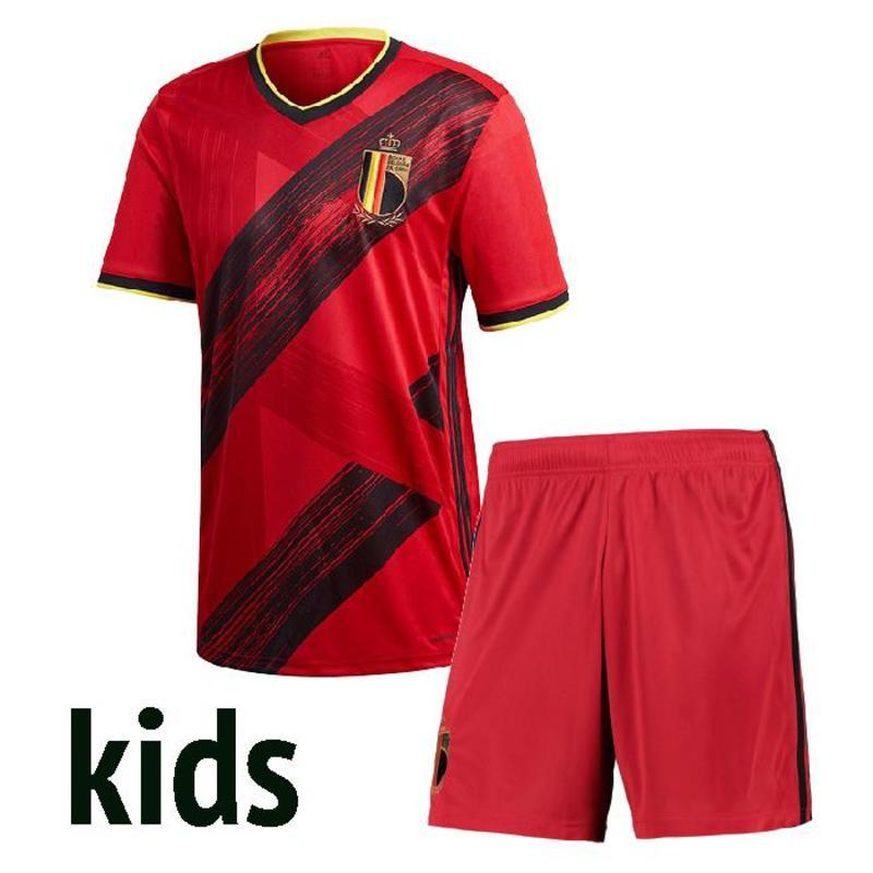 Kids 2020 BelgiumES Jersey HAZARD LUKAKU MERTENS Soccer Shirt Home 20 21 VERMAELEN DE BRUYNE NAINGGOLAN FOOTBALL SHIRTS