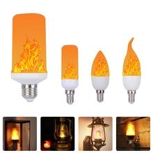 Full Model 3W 7W 9W E27 E26 E14 E12 Flame Bulb 85 265V LED Flame Effect Creative Lights Lamp Flickering Emulation Atmosphere Dec