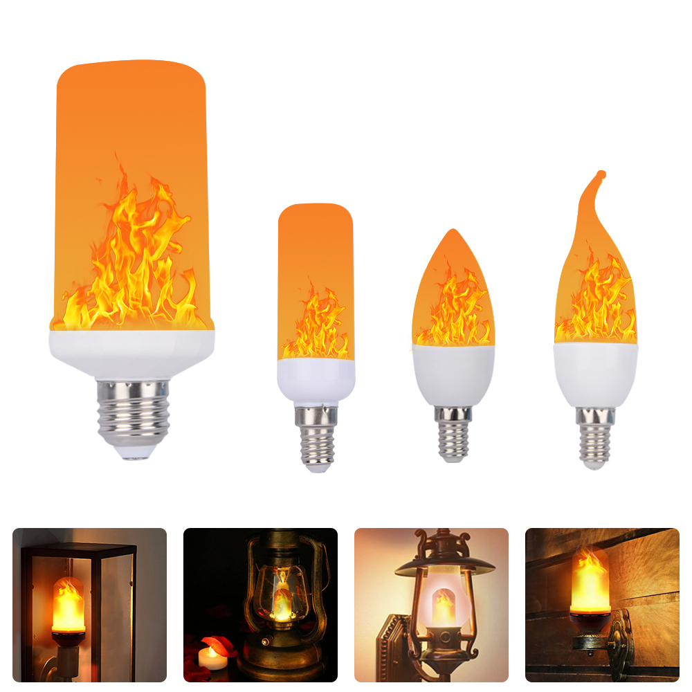 Full Model 3W 7W 9W <font><b>E14</b></font> E12 E27 E26 Flame Bulb 85-265V <font><b>LED</b></font> Flame Effect Creative Lights <font><b>Lamp</b></font> Flickering Emulation Atmosphere Dec image