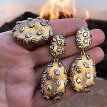 GODKI 2019 Trendy Charms DUBAI komunikat kolczyk pierścień biżuteria zestawy dla kobiet złota cyrkonia kolczyki biżuteria ślubna zestaw