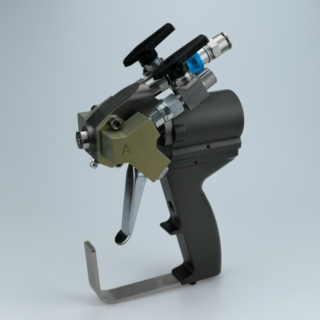 P2 gun, A5 spray gun for spray polyurethane foam applications, Different Flow Rates can be selected