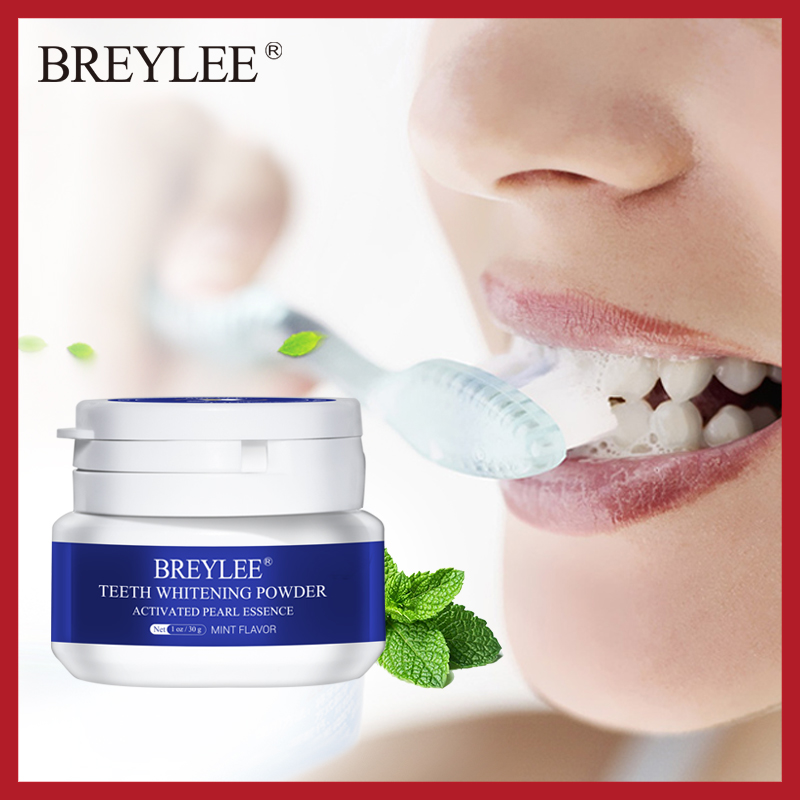 BREYLEE Teeth Whitening Powder Toothpaste Dental Tools White Teeth Cleaning Oral Hygiene Toothbrush Gel Remove Plaque Stains 30g(China)