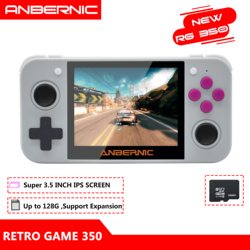 ANBERNIC RG350 IPS Retro Games 350 Video games Upgrade game console 64bit opendingux 3.5inch 2500+ games RG350 PS1 Emulators 16G