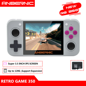 ANBERNIC RG350 IPS Retro Games 350 Video games Upgrade game console 64bit opendingux 3.5inch 2500+ games RG350 PS1 Emulators 16G(China)