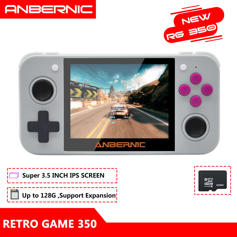 ANBERNIC RG350 IPS Retro oyunları 350 Video oyunları yükseltme oyun konsolu 64bit opendingux 3.5 inç 2500 + oyunları RG350 PS1 emülatör 16G