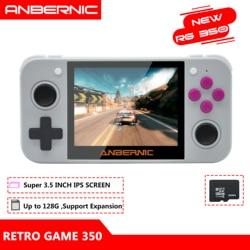 Anbernic RG350 Ips Retro Games 350 Video Games Upgrade Game Console 64bit Opendingux 3.5 Inch 2500 + Games RG350 PS1 emulators 16G