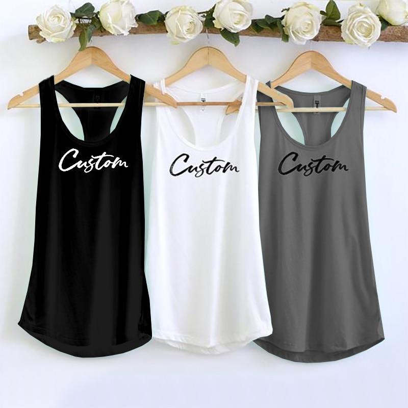 DIY customize women Tank Tops  Personalized Cusual Loose Tri-blend Sleeveless Tee Shirt 6