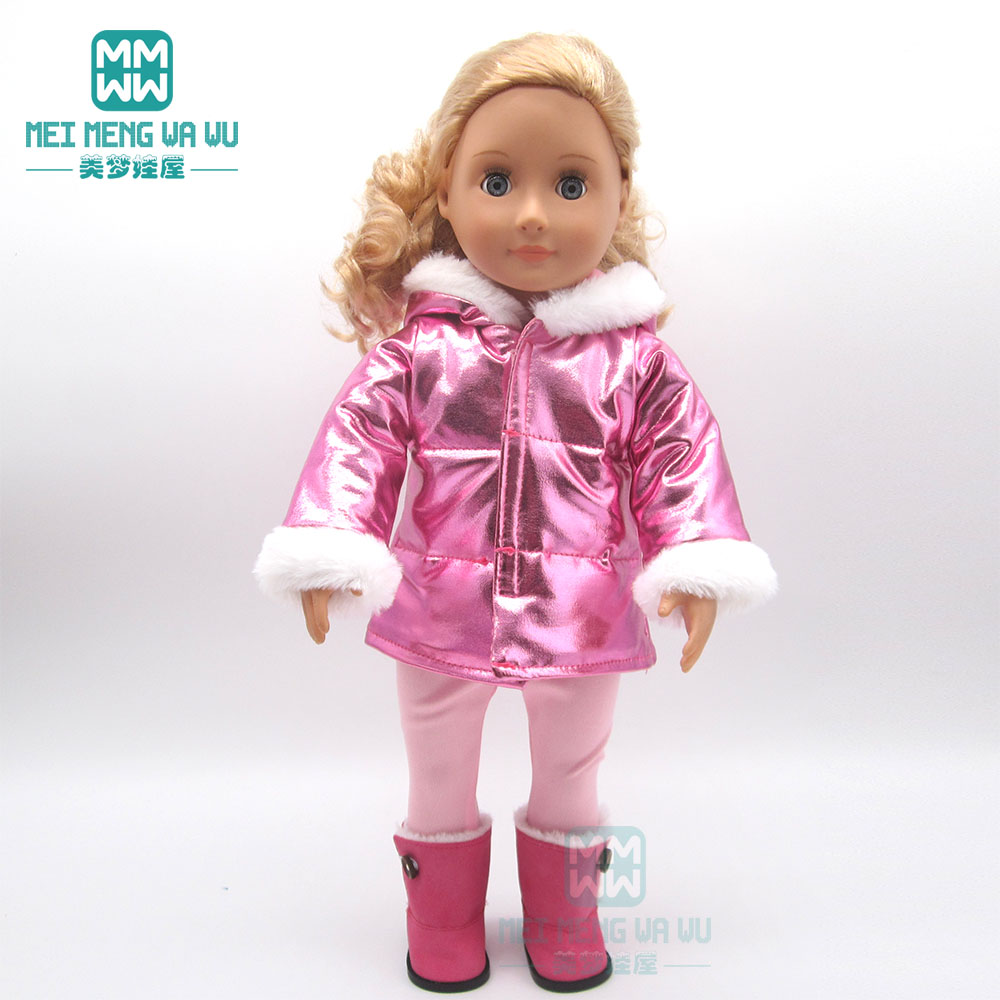 Clothes For Doll Fit 18inch 45cm American Doll Accessories Fashion Coat Set Princess Dress