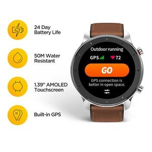 Image 2 - Huami Amazfit GTR 47mm GPS Smart Uhr Männer 5ATM Wasserdichte Smartwatch 24 Tage Batterie AMOLED Bildschirm 12 Sport Modi