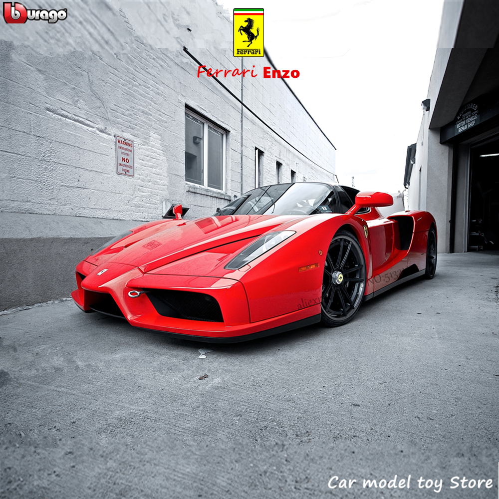 Bburago 1:24 Ferrari Enzo Collection Manufacturer Authorized Simulation Alloy Car Model Crafts Decoration Collection Toy Tools