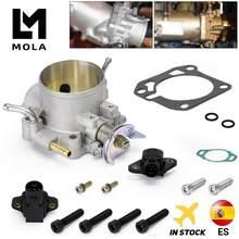 Alumínio prata coletor de admissão 70mm corpo do acelerador para honda b16 b18 d16 f22 b20 d/b/h/f eg ek h22 6959
