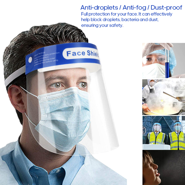 Transparent Protective Mask Full Face Shield Masks Protection Face Eye Mouth Mask Dust-proof Anti-Saliva Anti-fog Face Masks 3