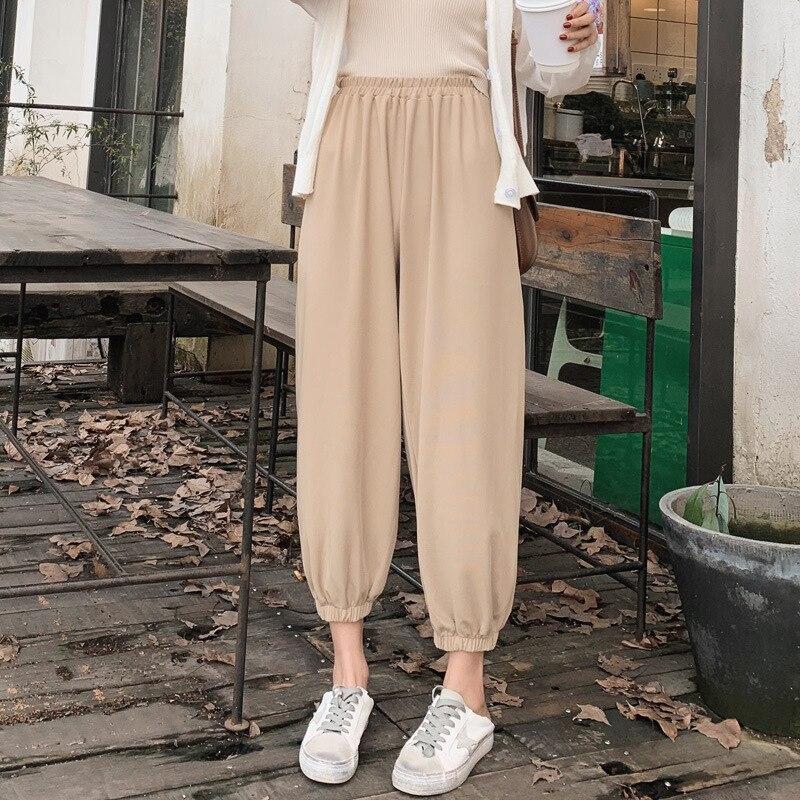 Early Autumn New Style Pants Women's Korean-style High-waisted Knit Harem Radish Grandma Pants Loose-Fit Straight-leg Pants Tigh