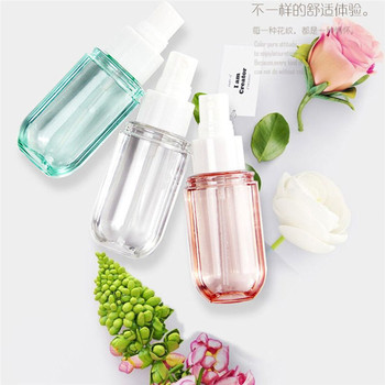 1Pcs 40ml Refillable Spray Bottle Clear Perfume Shampoo Lotion Bottles Travel Cosmetic Liquid Press Spray Bottles 100ml pet clear empty travel lotion liquid shampoo makeup container bottles cosmetic containers