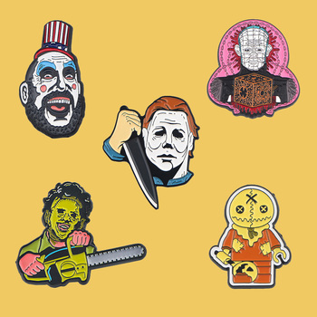 PC454 Cartoon Horror Film Enamel Pin Brooches Metal Brooch Pins Badge Backpack Bag Collar Creative Jewelry banana brooch creative tricky funny cute badge backpack fruits pins jewelry pin women men student cartoon enamel corsage gifts
