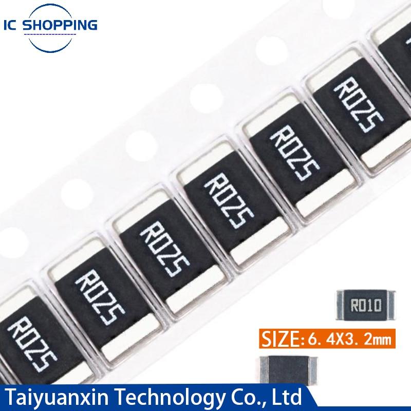 50PCS 2512 SMD Alloy Resistor Sampling Resistor 1% 2W R040 R050 R060 R070 R100 R120 R150 R200 R250 R300 R500