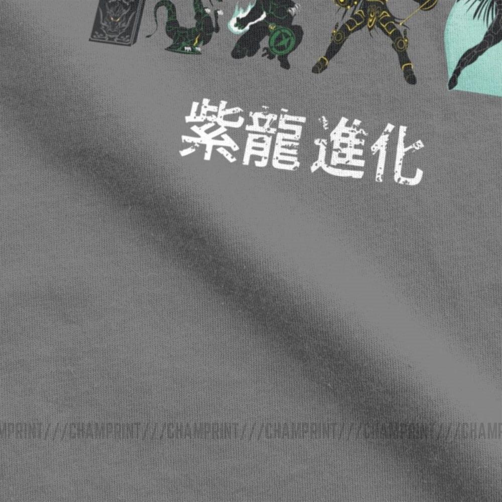Image 4 - Men T Shirt Shiryu Evolution Unique Cotton Tee Shirt Short Sleeve Knights of the Zodiac Saint Seiya 90s Anime T Shirt Plus SizeT-Shirts   -