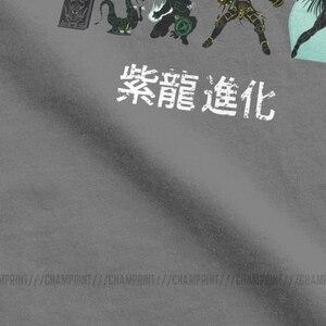 Image 4 - Áo Thun Nam Shiryu Tiến Hóa Độc Đáo Áo Thun Cotton Nữ Tay Ngắn Hiệp Sĩ Của Cung Hoàng Đạo Saint Seiya Anime 90S T áo Sơ Mi Plus Kích Thước