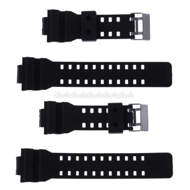 สายคล้องคอซิลิโคนกีฬาผู้ชายดำน้ำสีดำสำหรับ G-Shock Shock สำหรับ CASIO เปลี่ยนอิเล็กทรอนิกส์นาฬิกา D03 dropship