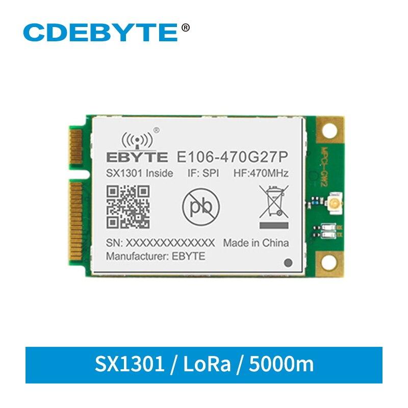 Sx1301 lora gate-way 433 mhz spi transceptor sem fio módulo 27dbm long range 5km para programm