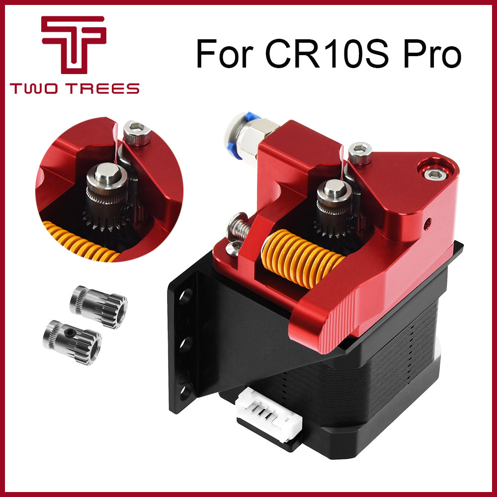 CR10 Aluminum Upgrade Dual Gear mk8 Extruder Kit for CR10S PRO RepRap Prusa i3 1 75mm 3d Parts Drive Feed Double Pulley Extruder