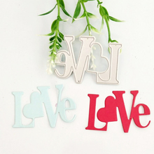 Love word decorative metal cutting die lace background frame paper-cut paper cutter blade stamping