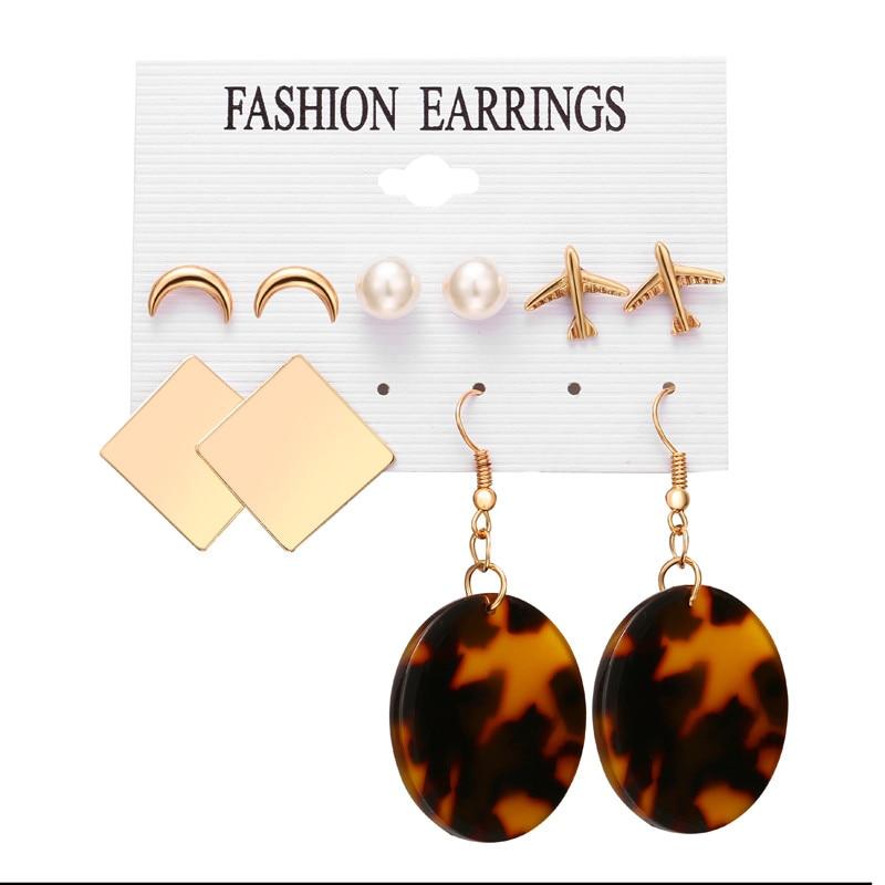 17 км акриловые серьги с кисточками для женщин, богемные серьги, набор больших геометрических висячих сережек Brincos, Женские Ювелирные изделия DIY - Окраска металла: Earrings Set 26