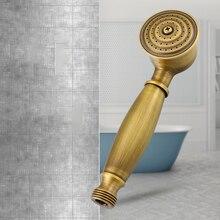 Ручная душевая головка высокого давления Ретро медная мощная повышающая спрей душевая головка s водосберегающая душевая головка принадлежности для ванной