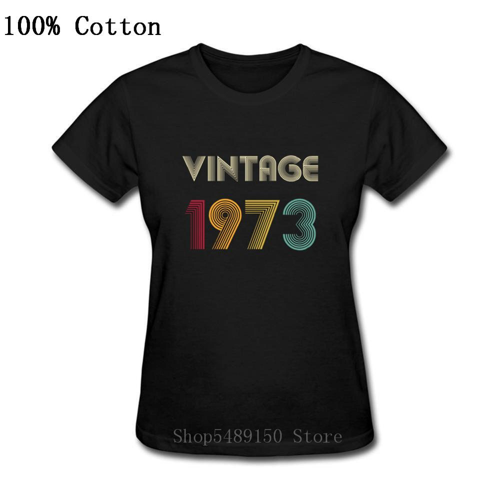 Custom Thanksgiving Day Best Present Tee Shirts 1973 Vintage Classic 47 Years Old Birthday Tshirt Women Mothe's Day Gift T-Shirt