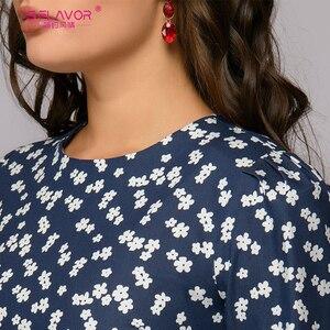 Image 5 - S.FLAVOR 여성을위한 프랑스 스타일 빈티지 드레스 우아한 꽃 인쇄 슬림 가을 a 라인 Vestidos 클래식 겨울 여성 미디 드레스