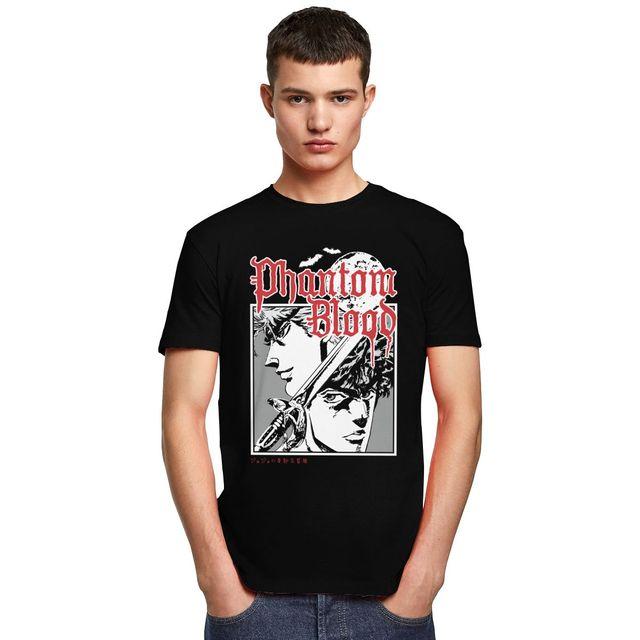 Unique Male Jojo Bizarre Adventure T-Shirt Short Sleeved Manga Anime Shirt Cotton Tshirt Leisure Phantom Blood Tee Tops Clothes 4