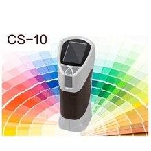 CS 10 portátil 8mm colorímetro cor medidor de diferença de cor tester cs10