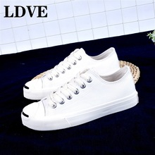 Classic Summer Flat Canvas Shoes For Women Casual Vulcanize Shoes Sneakers Girls Low-cut Lace-up Trainer Femme Ladies недорого