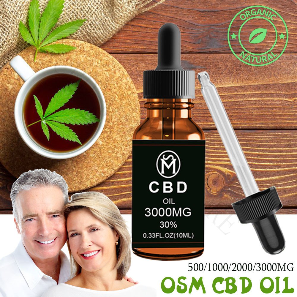 100% Strong And Effective CBD Hemp Essential Oil Drop For Chronic Pain Anti-anxiety Improves Sleep And Contain Vitamin Forpeople