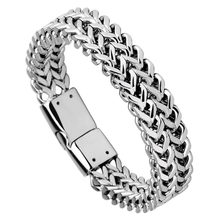 Мужские браслеты из титановой стали шириной 115 мм с звеньями