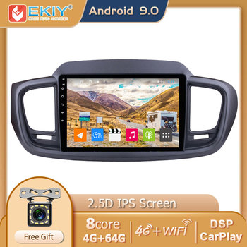 EKIY DSP IPS Android 9.0 Car Multimedia Player 4G+64G For Kia Sorento 3 2014-2017 Auto Radio Stereo GPS Navi Wifi USB Carplay HU image