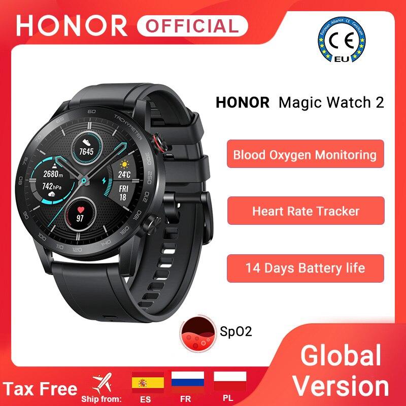 在庫グローバルバージョン名誉魔法腕時計 2 スマートウォッチbluetooth 5.1 スマートウォッチ血液酸素 14 日防水magicwatch 2|スマートウォッチ| - AliExpress